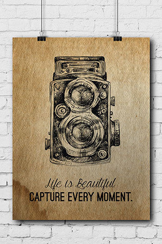 POSTER006 Photography Poster Life is Beautiful - Backdrop Outlet