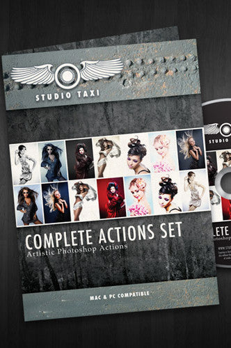 STCAS Photoshop Complete Action Set CD or Digital Download - Backdrop Outlet