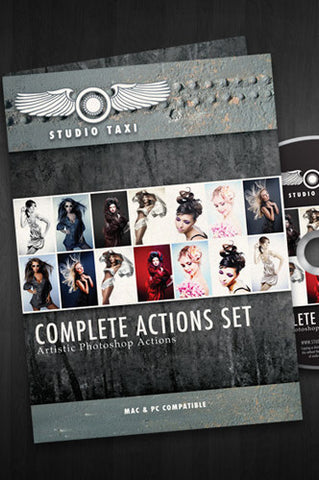 Photoshop Complete Action Set CD or Digital Download - STCAS - Backdrop Outlet