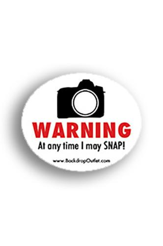 STICKER017 Warning May Snap Sticker - Backdrop Outlet