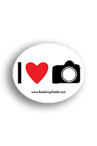 STICKER019 I Heart Photography Sticker - Backdrop Outlet