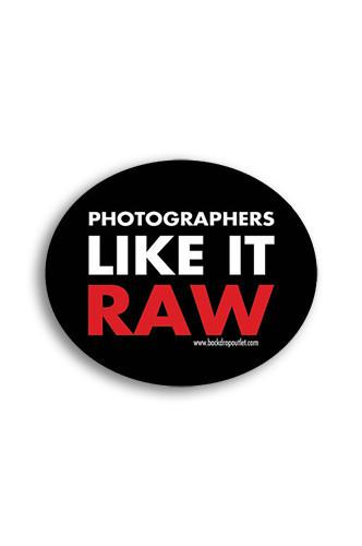 STICKER024 Photographers Like It Raw Photography Sticker - Backdrop Outlet