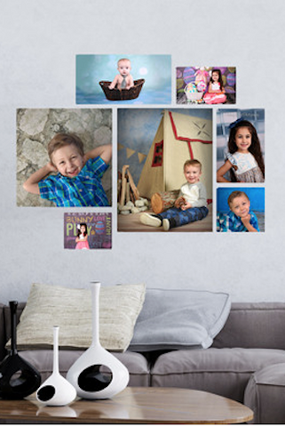 C000 -  Photo Gallery Canvas Wrap Print Custom (Many Size Options Available) - Backdrop Outlet
