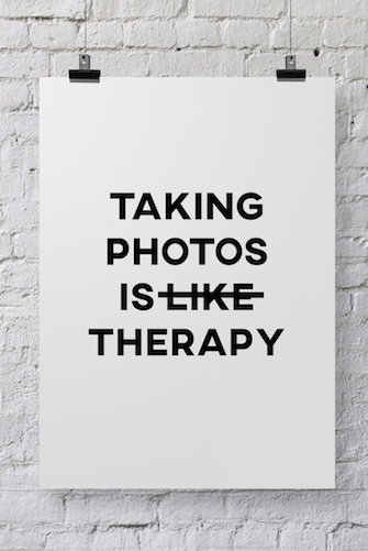 Photographer Poster Photo Therapy - POSTER029 - Backdrop Outlet