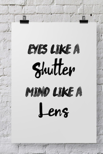 Photographer Poster Eyes Like A Shutter - POSTER032 - Backdrop Outlet