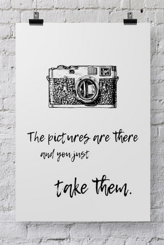 Photographer Poster Take Them - POSTER028 - Backdrop Outlet
