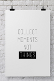 "POSTER026 Photographer Poster ""Collect Moments"" - Backdrop Outlet"