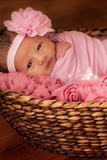 CPW203 Pink Cheesecloth Baby Wrap 3ft x 5ft Photo Prop