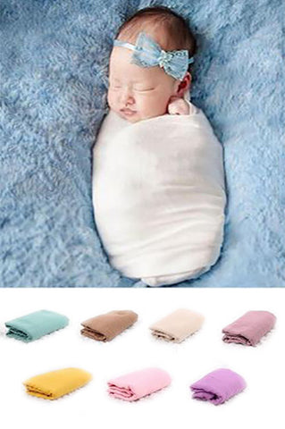 LCCPW100 Cotton Newborn Baby Wrap (Multiple Colors Available) - Backdrop Outlet