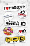 3  Sticker Photographer Sticker pack - Backdrop Outlet