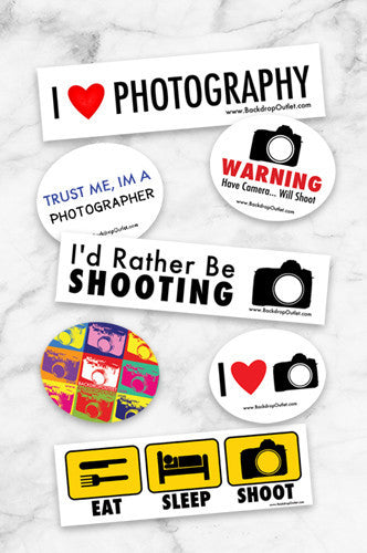 Sticker Photographer Sticker Pack - Set Of 3 - Backdrop Outlet