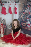 5311 Red Stockings Christmas Backdrop - Backdrop Outlet - 1