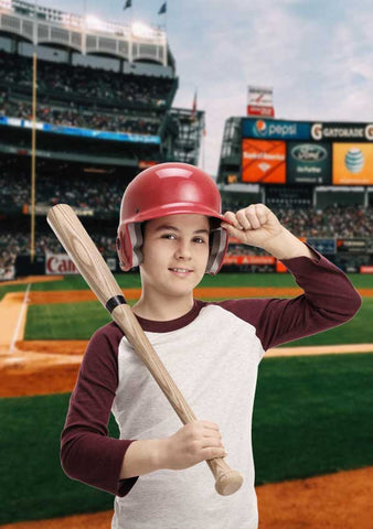 Baseball Field Stadium Backdrop - 6329 - Backdrop Outlet