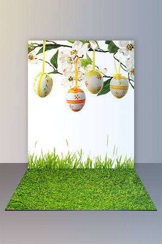 COMBO136 Backdrop And Floor Combo Set Easter Eggs - Backdrop Outlet