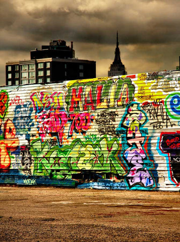 103 Studio Printed Background - City Graffiti Wall - Backdrop Outlet