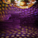 1041 Printed Photography Backdrop - Purple Ball Disco Party Club - Backdrop Outlet