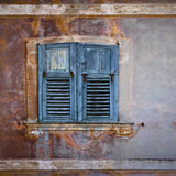 1047 Printed Background - Weathered Rustic Shutter Window - Backdrop Outlet