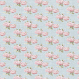 Blue and Pink Vintage Roses Backdrop - 1082 - Backdrop Outlet