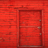 Red Wood Barn Door Backdrop - 1097 - Backdrop Outlet