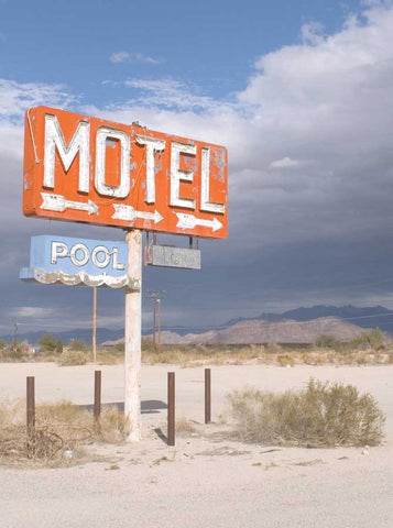 1099 Motel Sign Backdrop - Backdrop Outlet