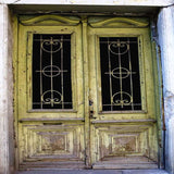 Rustic Green Doors Photography Backdrop - 1112 - Backdrop Outlet