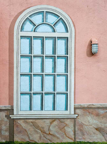 1229 Arched Window Wall Backdrop - Backdrop Outlet