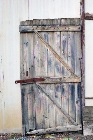 Gray Barn Door Backdrop - 1274 - Backdrop Outlet