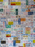 127 Printed License Plates Backdrop - Backdrop Outlet