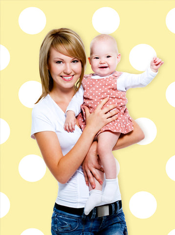Yellow And White Polka Dots Backdrop - 1330 - Backdrop Outlet