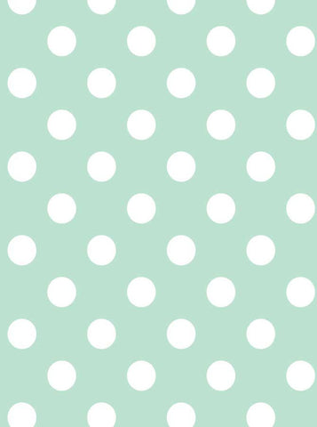Mint and White Polka Dots Backdrop - 1332 - Backdrop Outlet
