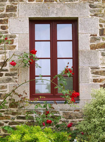 Quaint Brick Window Backdrop - 1371 - Backdrop Outlet