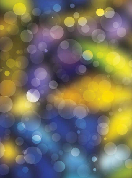Bokeh Mardi Gras Purple Backdrop - 1452 - Backdrop Outlet