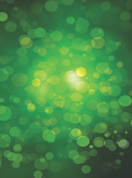 Bokeh Green Irish Shamrock Backdrop - 1453 - Backdrop Outlet