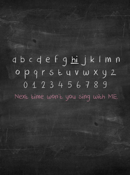 ABC Sing Chalkboard Printed Photography Background - 1471 - Backdrop Outlet