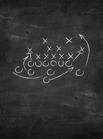 1472 Chalkboard Football Backdrop - Backdrop Outlet