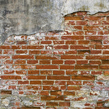 Grunge Brick Wall Red Printed Photography Backdrop - 147 - Backdrop Outlet