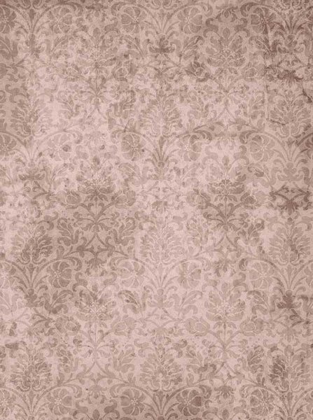 Damask Vintage Tan Backdrop - 1504 - Backdrop Outlet
