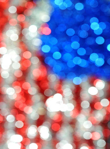 Patriotic Bokeh Flag Photo Backdrop - 1582 - Backdrop Outlet
