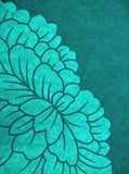 Printed Teal Large Flower Backdrop - 1608 - Backdrop Outlet
