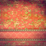 Orange Vintage Wallpaper Photo Backdrop - 1611 - Backdrop Outlet