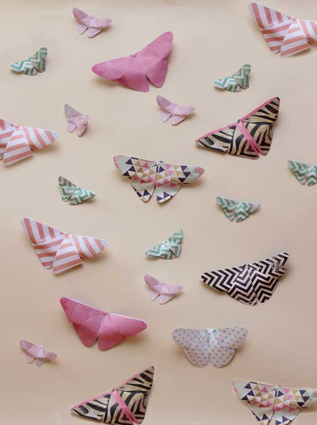1649 Paper Butterflies Background - Backdrop Outlet
