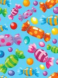 1680 Printed Wrapped Candy Photo Backdrop - Backdrop Outlet