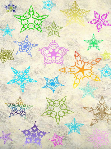 Holiday Snowflakes Backdrop - 1686 - Backdrop Outlet