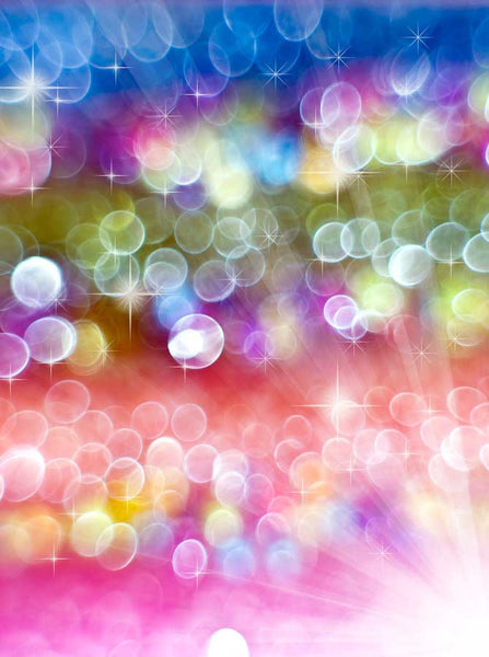Bokeh Rainbow Bubble Backdrop - 1690 - Backdrop Outlet