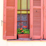 Coral Shutter Window Backdrop - 1714 - Backdrop Outlet