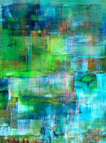 172 Abstract Ocean Blues Backdrop - Backdrop Outlet