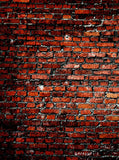 1734 Distressed Red Brick Backdrop - Backdrop Outlet