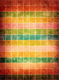 Flashback Orange Cubes Backdrop - 1810 - Backdrop Outlet