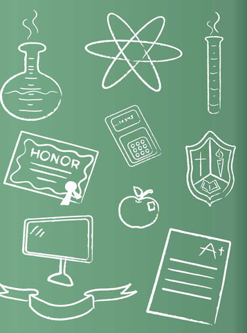 1923 Green Chalkboard Backdrop - Backdrop Outlet