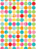 1952 Printed Colorful Dots Backdrop - Backdrop Outlet - 2